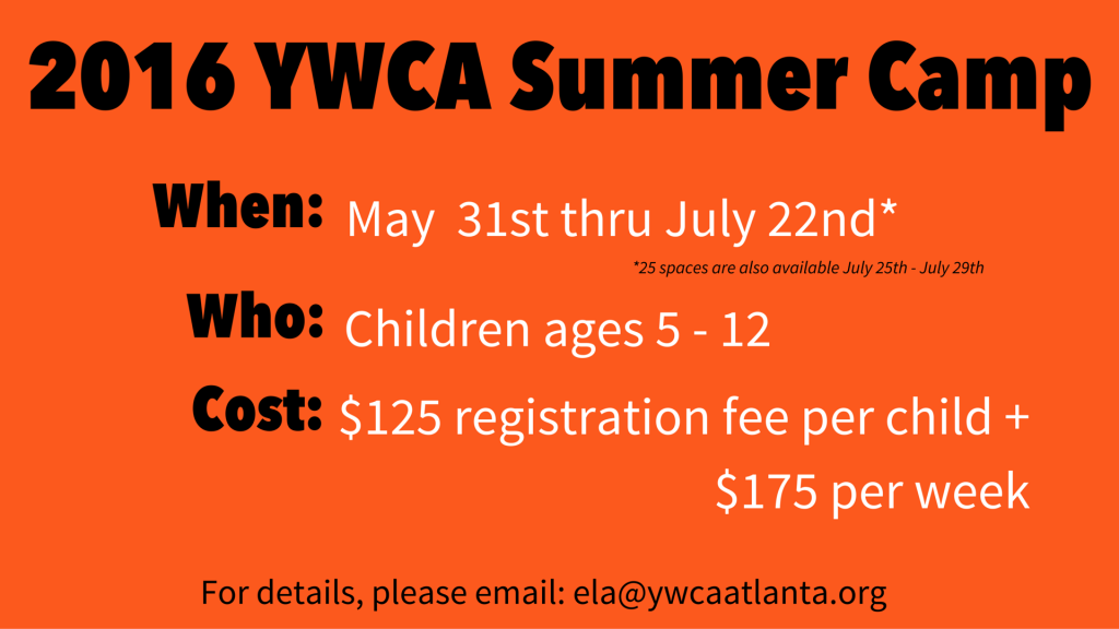 2016 YWCA Summer Camp